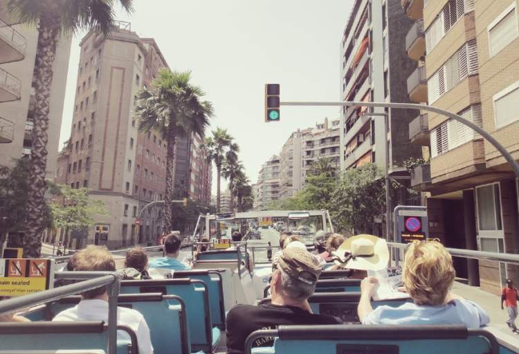 Playing the bus tourist